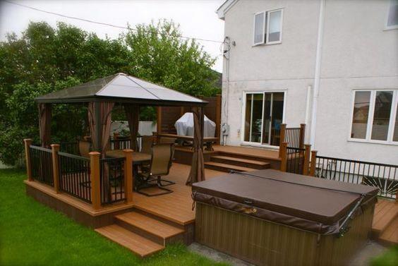 Rubber Deck Membrane Garden Decking Cheap Alternatives Floor For A Deck Cost Of Decking Per Square Foot Deckbui Avec Images Patio Plan Construire Un Pont Patio Exterieur