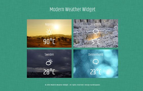 weather website template