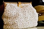 Art-deco (ca 1930's) Bone lace purse! So pretty!