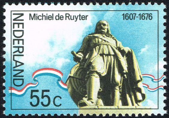 Stamp: M.A. de Ruyter (1607-76) admiral, statue in Flushing (Netherlands) (Ruyter, M.A. De) Mi:NL 1074,Yt:NL 1040,NVP:NL 1089