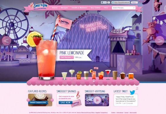 Sweet'N Low Website Home Page