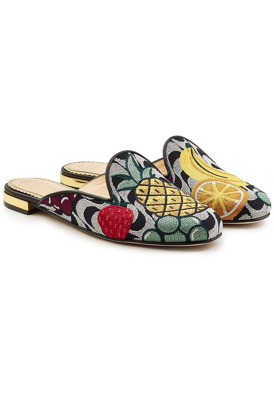 CHARLOTTE OLYMPIA FRUIT SALAD LOAFERS. #charlotteolympia #shoes #
