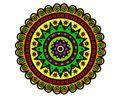 Dibujo  Mandala étnica  pintado por  AVEJ