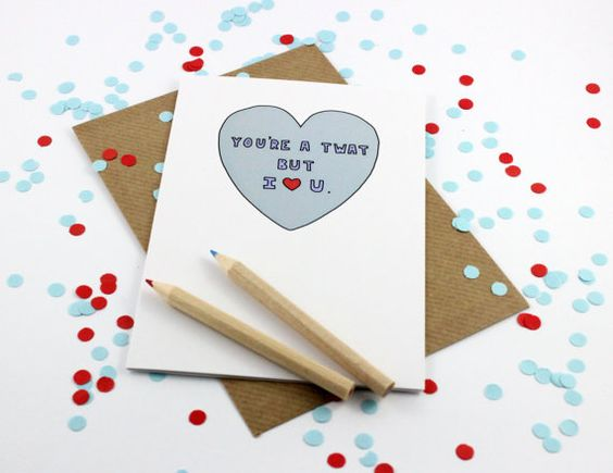 Funny Anniversary Card Valentines Card But I by PostLoveDesigns