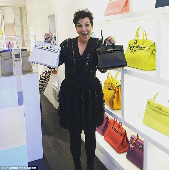 inexpensive bags and purses - Shopping spree! Kris Jenner buys two $8000 Hermes 'Baby Birkin ...