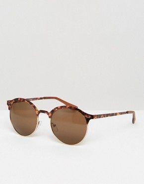 New Look Round Tortoise Sunglasses