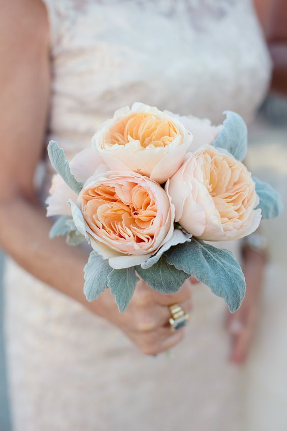 Garden rose bridesmaid bouquet | Photography: Sarah Kate - sarahkatephoto.com  Read More: http://www.stylemepretty.com/2014/05/06/urban-english-garden-inspired-wedding/