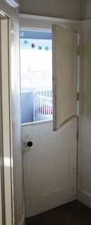 a DIY dutch door.