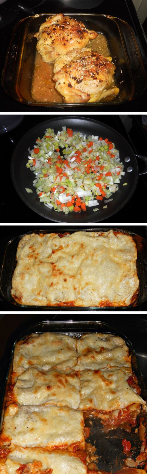 Cornish Hen Lasagna with Chianti Wine Sauce - Adapted from Williams-Sonoma which may have used duck. Previous Pinner said: this is great...