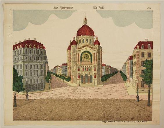 Stadt (Hintergrund.) Ville (Fond.) No. 6.