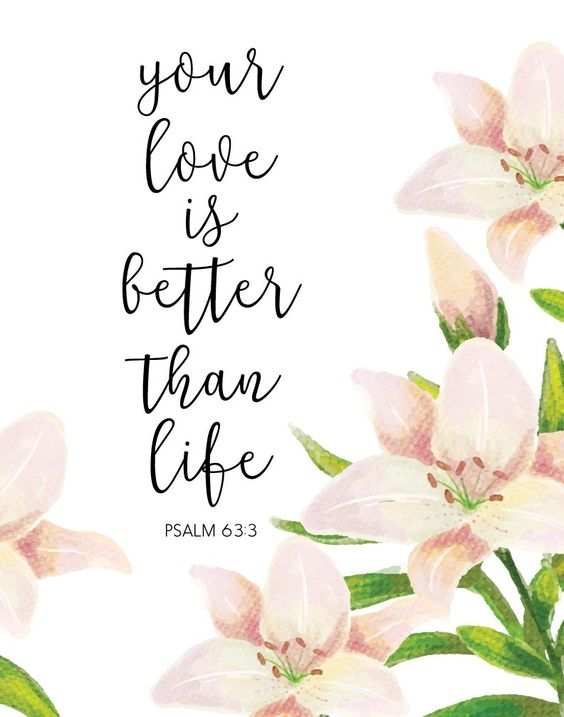 Your love is better than life - Psalm 63:3
