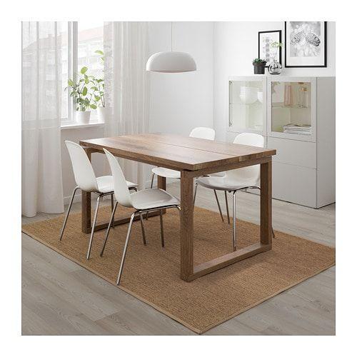 Ikea Eettafel 4 Stoelen.Morbylanga Leifarne Tafel En 4 Stoelen Bruin Wit Eetkamer