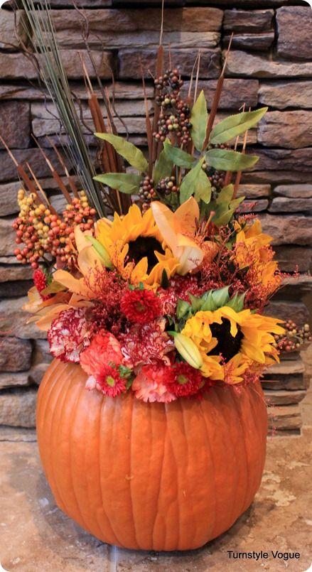 Fresh Pumpkin Floral Arrangement