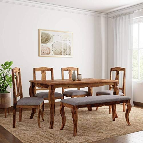 Dining Table Set 6 Seater With One Bench Bench Dining Table Set
