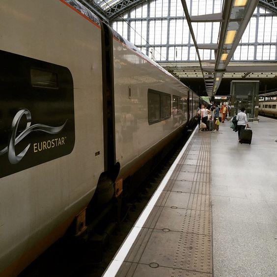 Off to #paris! We love the romanticism of trains, even that of the #Eurostar !  #london #paris #weekendoff #businesstravel