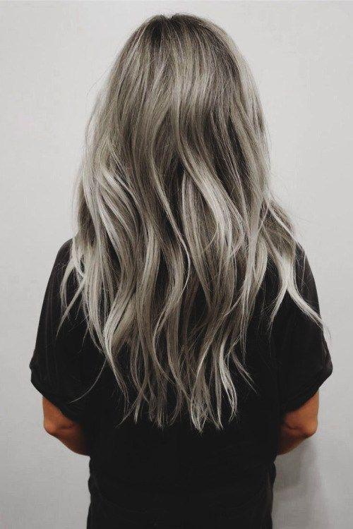 pinterest oveandloubs grey hair color - Coloration Blond Gris