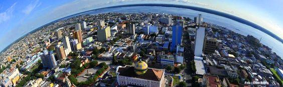 Uma vista de Manaus.
