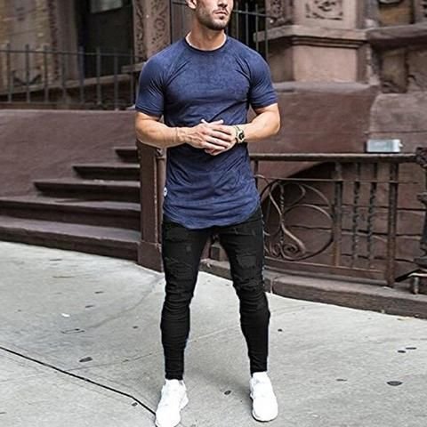 Pantalones Skinny Estilo Callejero Para Hombre Muy Populares Disponible En Dos Colores Estilo De Ropa Hombre Ropa De Moda Hombre Ropa Para Hombres Jovenes