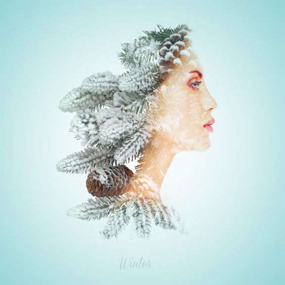 Seasonal Beauties Is A Wonderful Double Exposure About The ...