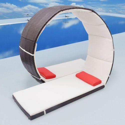 Sonnenliege Gartenliege Lounge Poly Rattan Gartenmöbel Looping - rattan gartenmobel braun