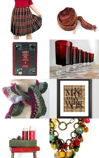 --Pinned with TreasuryPin.com #holidays, #plaid, #project/runway, #fashion, #christmas, #red, #green, #decor