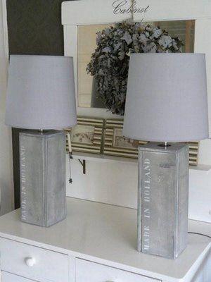 Houten voet om de oude bestaande voet zo heb je snel een nieuwe lamp slim thuis met moon - Houten drie voet lamp ...