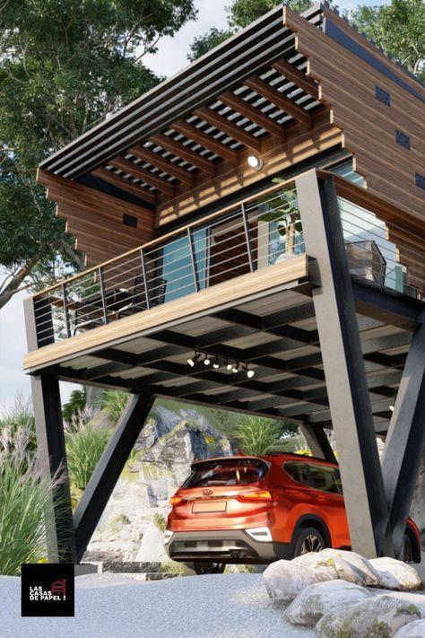 Pin De Andres Viani En Loft Casas Madera Modernas Casas Tipo Cabaña Casas Cabañas