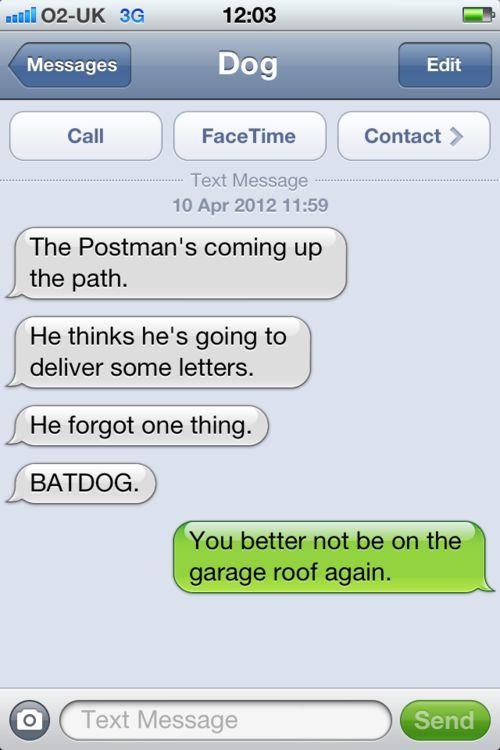 #textfromdog