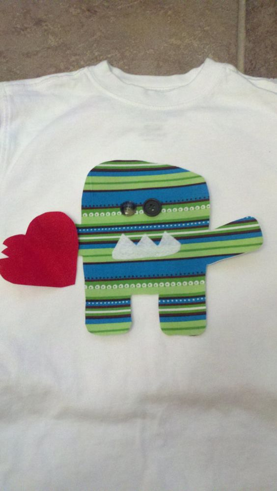 Valentine shirt idea for me to make for my son