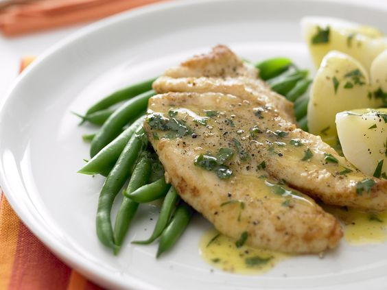 Lightly buttered with a touch of lemon, any white flesh fish fillets are suitable for this dish but John Dory is perfect. Take care not to burn the butter when you're making the sauce - cook it just enough so it's golden and tastes nutty.: