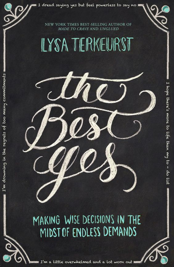 "The Best Yes  e-Order 1 copy today and you will receive for FREE….  The Best Yes Audio BookNew exclusive mini eBook from Lysa TerKeurst 2 minute ""Thank you!"" video from Lysa25 beautiful, sharable, printable quote images from the bookA keynote video message from Lysa TerKeurst about the heart of The Best Yes:"