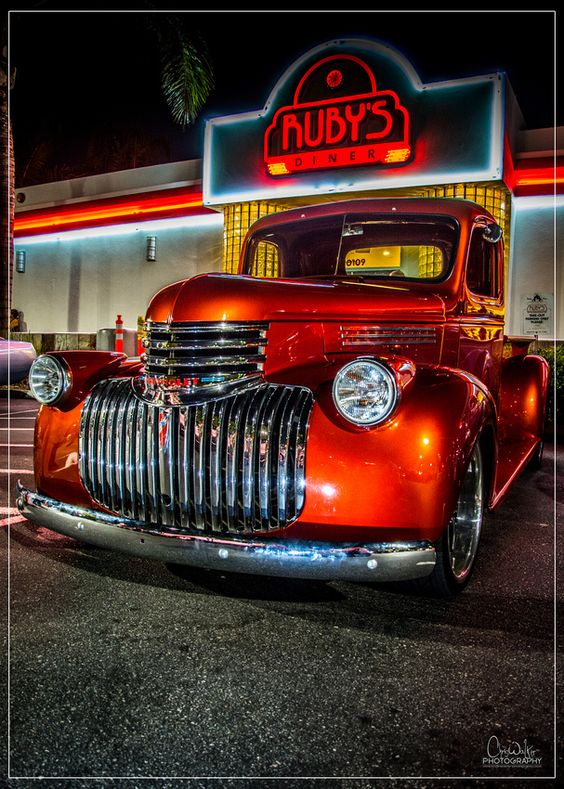 1946 Chevy Truck - September 5th 2014 Ruby's Friday Night Cruise 2014 Whittier, CA