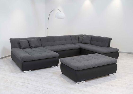 Moderne polsterecke  Couchgarnitur Couch Ecksofa Sofagarnitur Sofa U Form VOLCANO NEU ...