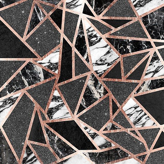 Modern Rose Gold Glitter Marble Geometric Triangle Photographic Print By Blkstrawberry Rose Gold Marble Gold Marble Wallpaper Rose Gold Bedroom Rose gold white black wallpaper