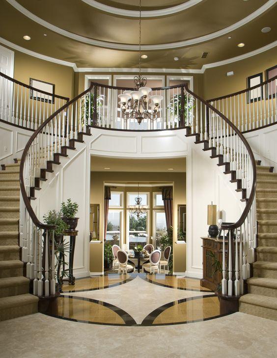 45 custom luxury foyer interior designs beautiful custom interior stairways