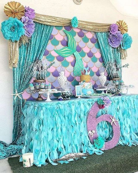 Birthday Party Decoration Ideas Tips On How To Decorate A Birthday Party Mermaid Party Decorations Mermaid Birthday Party Decorations Mermaid Theme Birthday