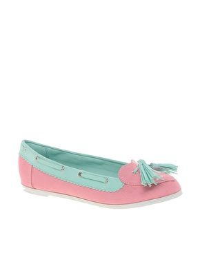 Pastel LOVEBOAT Boat Shoes with Heart Detail