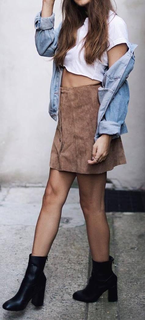 ootd: top   skirt   heels