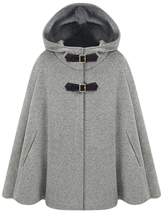 Chic wool cape