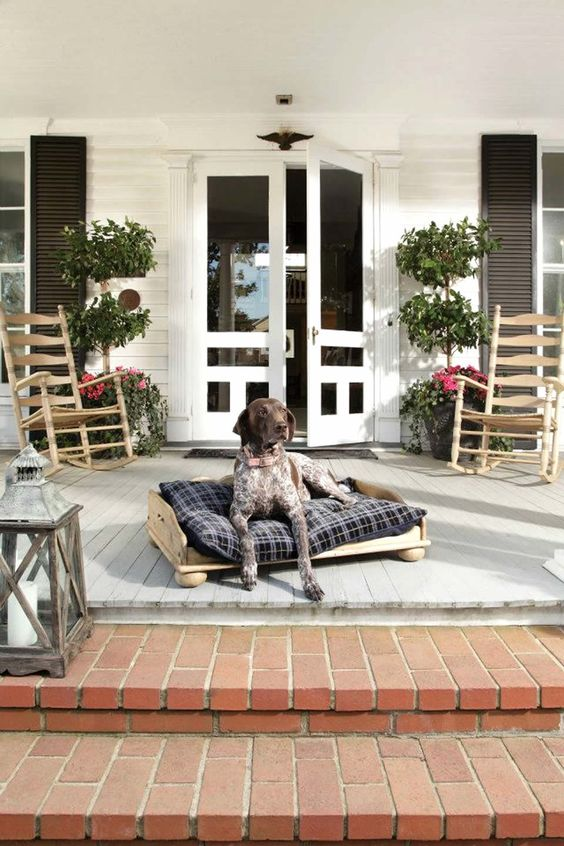 Solid Wood Dog Bed of Homecoming Vintage Pine Design Collection by Kincaid Furniture