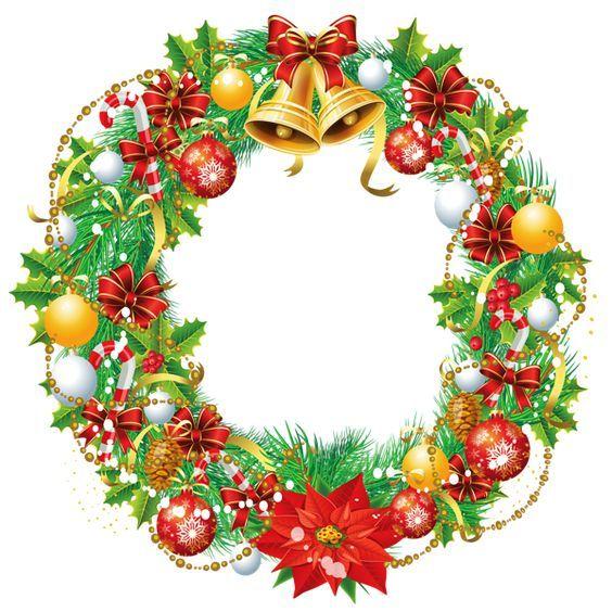 Transparent Christmas Wreath Png Clipart Picture Coronas Navidenas Etiquetas Navidenas Dibujos De Nochebuenas