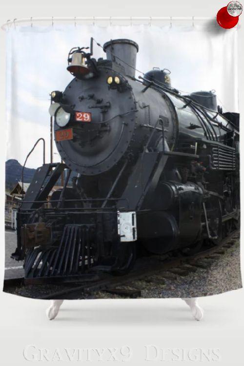 Vintage Railroad Steam Train Shower Curtain Society6 Gravityx9