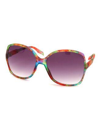 Matte Floral Print Sunglasses
