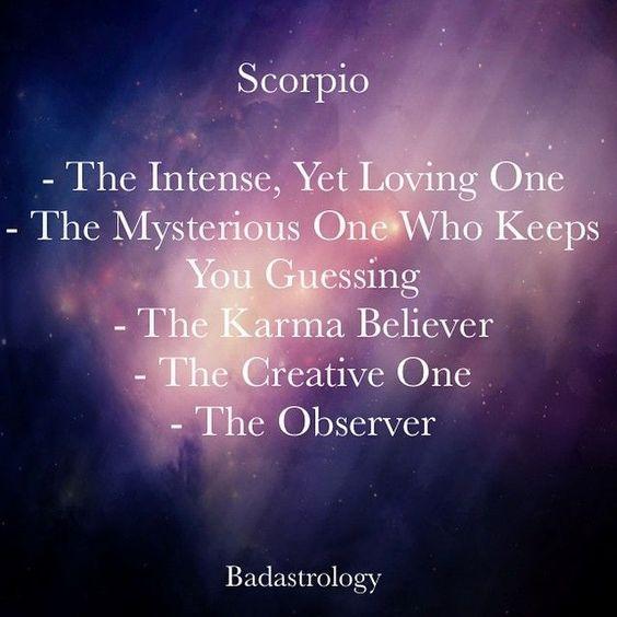 Scorpio: the intense, yet loving one...  #Scorpio #zodiac #traits #personality