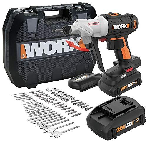 Worx Wx176l 1 Switchdriver 2 In 1 Cordless Drill And Driver With Rotating Dual Chucks And 2 Speed Motor With Precise Electronic T With Images Cordless Drill Drill Cordless