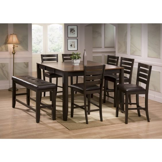 Crown Mark Elliott Counter Height Table Set Classy