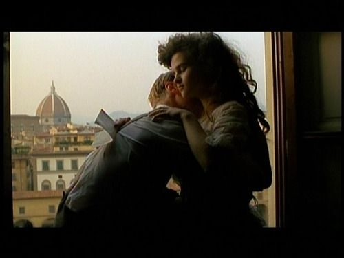 Still from A Room with a View (1985) film of E.M. Forster's novel set in 1908. Gorgeous score!
