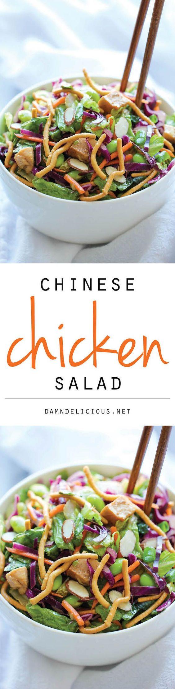 Chinese Chicken Salad | Recipe | Restaurant, Veggie kabobs and Salad ...