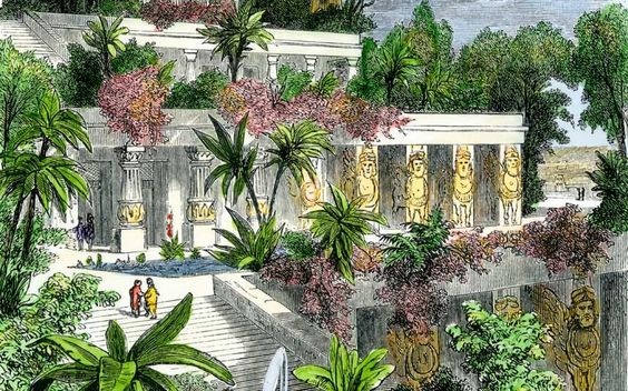Hanging gardens of Babylon were not in Babylon! The Hanging Garden was actually created 300 miles further north in Ninevah, a feat of artistic prowess achieved by the Assyrian civilisation under King Sennacherib.