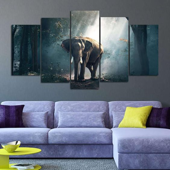 Modular Posters Canvas Living Room Home Decor 5 Piece Pcs Forest